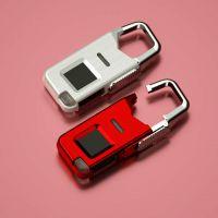 指纹挂锁 便携式箱包锁 迷你指纹锁 挂锁