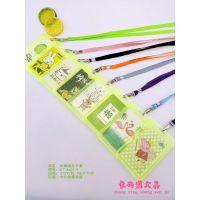 韩版卡通简约清新卡套公交卡包动漫证件学生卡包单层长绳透明卡套