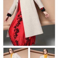 莫妮卡19秋冬上海时尚品牌女装直销风衣外套羽绒服尾货进货渠道