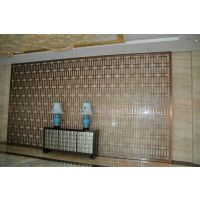 酒店金属装饰不锈钢屏风 高端场所不锈钢花格定制厂家