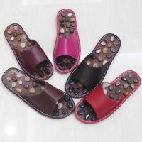 天然鹅卵石足底保健按摩穴位男女情侣托鞋夏家居家用石子防滑拖鞋