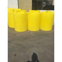 2立方黄色PE加药箱 2吨塑料搅拌桶