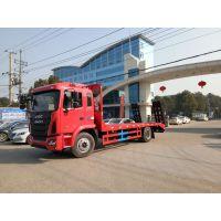 江淮格尔发国五平板运输车|15吨工程机械运输车|潍柴160马力平板