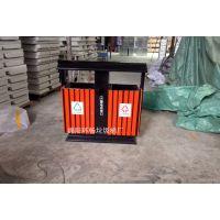 宜宾街道大众常规款式垃圾桶 分类木条垃圾箱 木条颜色可定做 喷塑垃圾桶