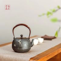 龙善堂铁壶 蝶飞 纯手工铁壶 日本工艺 铸铁 定制茶壶