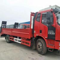 国五解放J6单桥挖机平板运输车 单桥150挖机拖板车详细介绍