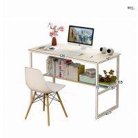80cm长电脑桌长方形卧室家用简易1.2米单人书桌书架小学生写字台