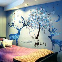 墙贴纸自粘女生寝室创意卧室温馨小清新少女心房间布置装饰品墙纸