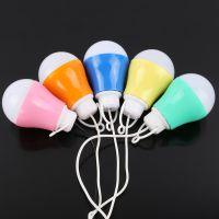 热卖USB七彩低压充电球灯泡 LED户外应急照明节能灯泡 厂家直销