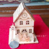 3-68大号房子别墅模型 木质工艺品 创意礼品新奇特 欧式家居摆件