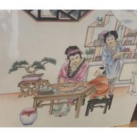 中式瓷板画 定制 景德镇陶瓷瓷板画厂家