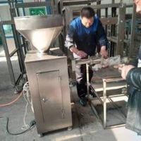 气动定量自动扭结灌肠机宠物食品肠加工设备液压灌肠机