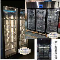 火锅店三面玻璃牛肉冻柜牛排冻柜冷柜高端钛金冷冻展示柜