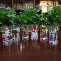 东莞厂家快速定制直筒塑料杯实色果汁饮料杯PP儿童塑料水杯