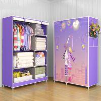 单人衣柜塑料简易经济型简约现代纹小柜子出租房卧室组装板式