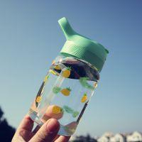 韩版创意水果玻璃杯成人吸管杯清新可爱女学生水瓶软妹随手水杯子
