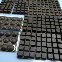 厂家直销硅胶脚垫减震防滑贴自粘胶垫方形胶块绝缘防滑垫