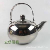 批发酒店用玲珑壶不锈钢茶水壶带滤网咖啡冲水壶药水壶料壶礼品