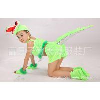 幼儿动物表演服 儿童小鳄鱼演出服饰 小壁虎卡通服装 鳄鱼造型服