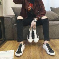 2018春季新款潮流时尚休闲鞋男士pu面系带板鞋学生休闲运动鞋8382