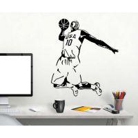 科比布莱恩扣篮墙壁装饰墙贴NBA球星贴画宿舍创意个性篮球贴纸画