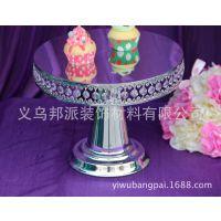 CS203蕾丝边高脚蛋糕盘 欧式铁艺蛋糕架婚庆道具 点心盘蛋糕托盘