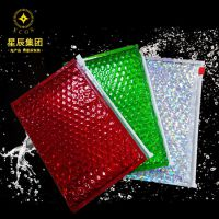 苏州厂家 循环利用版珠光膜复合气泡袋 拉链袋