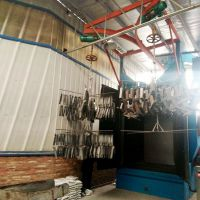 中山艾航喷砂机厂家生产吊钩式抛丸机 钢材结构前处理设备
