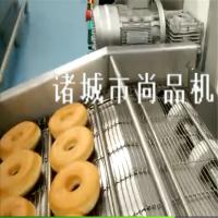 波提甜甜圈油炸机 自动翻板式电加热甜甜圈过油机 炸面包机