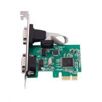 PCIE2串口卡转COM口9针扩展卡转换卡PCI-E串口卡RS232转接卡