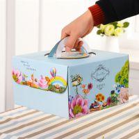 手提盒子6 8 10 12寸 千层蛋糕盒 西点烘焙包装盒免邮生日蛋糕