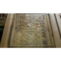 浮雕工艺品图片_雕刻图案设计_中式实木客厅挂件_成都福运仿古木雕厂家