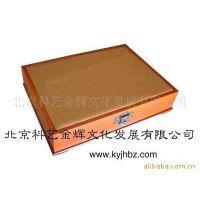 贴实木皮盒  带扣木盒子 金属与布镶嵌木盒 金属与实木镶嵌木盒