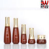 新款高档美斯化妆品玻璃分装瓶 金色电镀泵头 水乳精华面霜包材