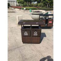 户外垃圾桶果皮箱 钢木垃圾桶 公园环保分类垃圾箱环卫垃圾桶定做