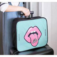 新款多功能旅行收纳包卡通大嘴巴防水衣物行李包大容量手提旅行包