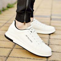 韩版潮流男鞋子厚底增高小白鞋男学生运动休闲鞋英伦百搭板鞋白色