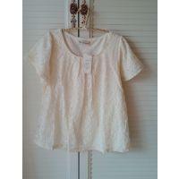 2.014年春季日本原单超赞白色半身蕾丝甜美上衣