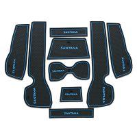 13-15款桑塔纳门槽垫水杯垫储物垫汽车内饰专用防滑垫防尘垫