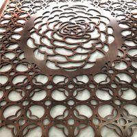 红古铜铝板雕刻屏风 欧式风格铝板雕刻隔断定做