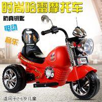儿童电动摩托车宝宝电瓶电动三轮车充电踏板童车新款可坐可骑