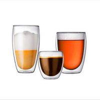高硼硅耐热玻璃双层杯咖啡牛奶饮品杯多款容量可以带盖子双层杯