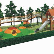 户外儿童乐园树屋滑梯儿童攀爬滑滑梯原生态木质拓展树屋组合滑梯游乐设备