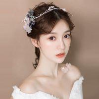 新款新娘头饰日韩式真花朵发箍超仙甜美森系发饰结婚蜜月配饰品