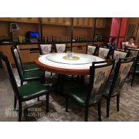 定制餐饮家具大理石桌面圆桌