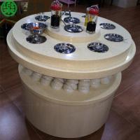 广东深圳定制火锅餐厅大理石材质调味台 韩式自助烤肉餐厅酱料台 餐饮调料台