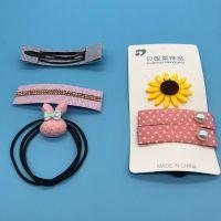 卡装韩版发饰  超值皮筋发夹套装 畅销爆款(两元)货源 可做赠品