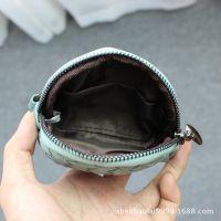 新款欧美女士零钱包女编织钥匙包韩国短款小钱包手拿包卡包女