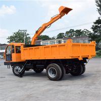 青岛四驱随车挖厂家直销 拉河沙专用随车挖机 液压支架
