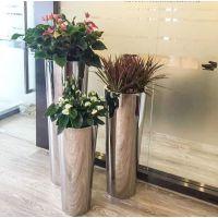 广东工厂直销酒店大堂户外园林景观不锈钢花盆花箱花钵花器